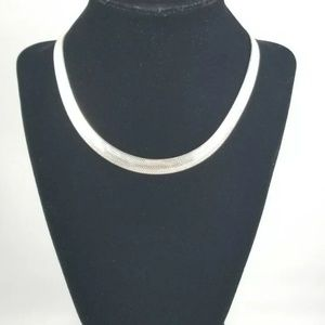 .925 Herringbone Necklace Milor Made in Italy 16""